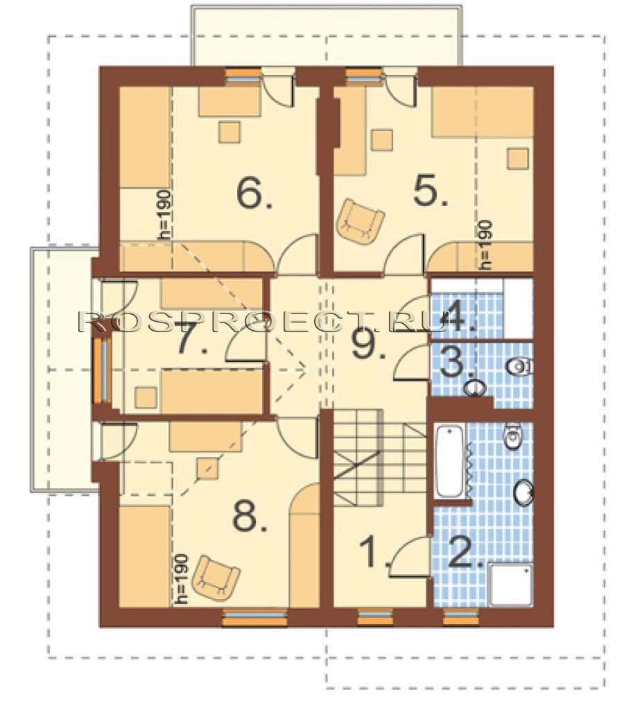 схема дома с мансардой 9 на <em>руками</em> 15