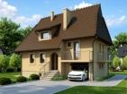 Проект привлекательного дома с подвалом, мансардой и гаражом